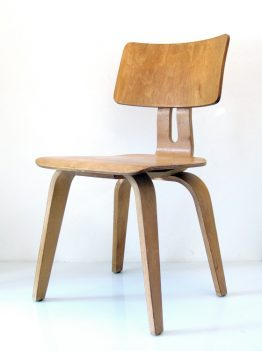 2 Cees Braakman Pastoe Combex plywood vintage chairs