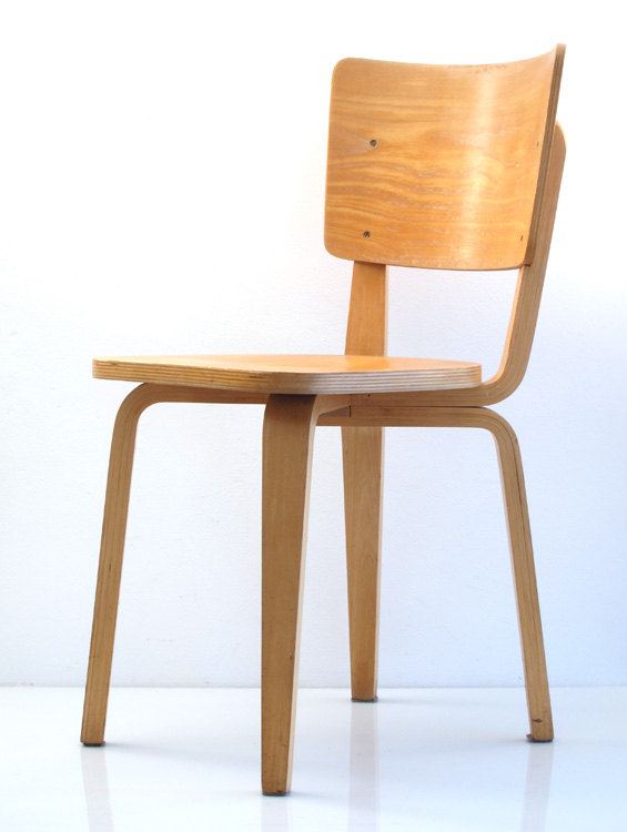 2 Cor Alons retro fifties vintage plywood chairs