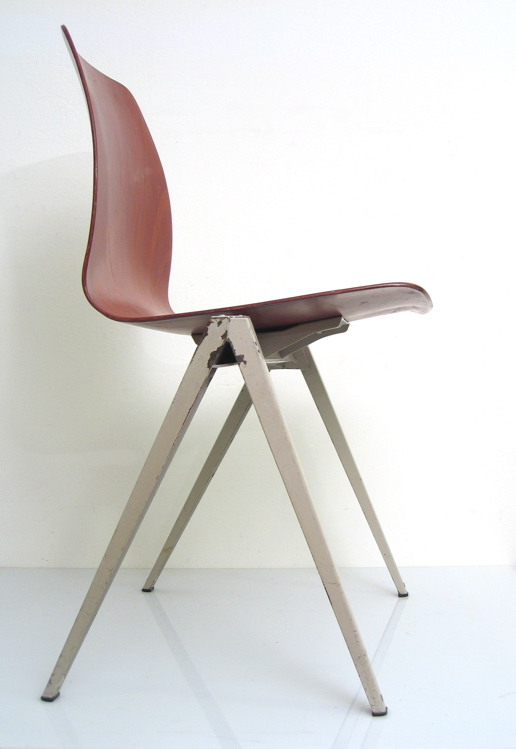 2 plywood vintage stacking chairs
