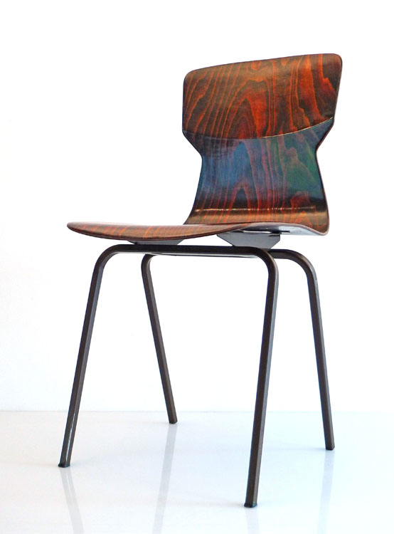 3 Pagholz retro plywood chairs