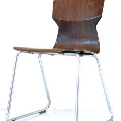 3 Plywood retro stacking chairs