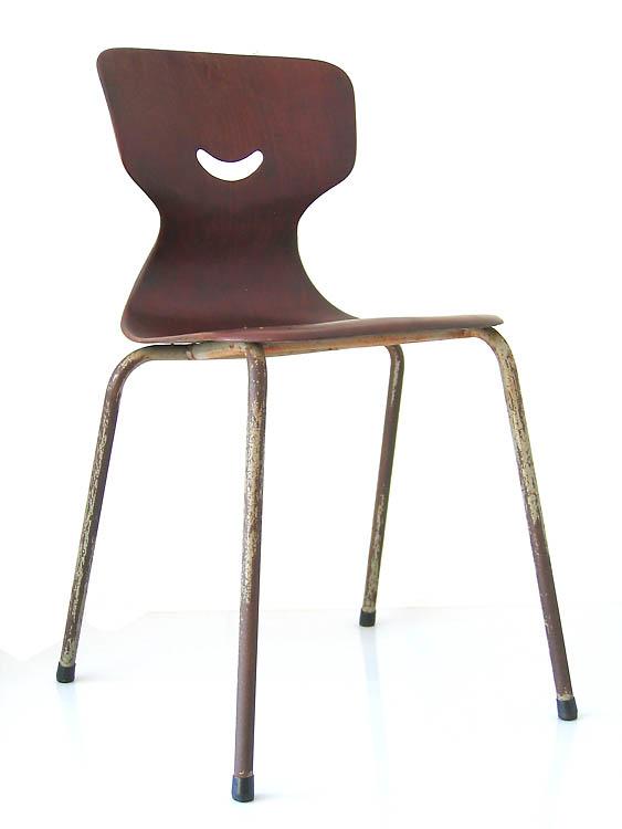 4 plywood schoolchairs