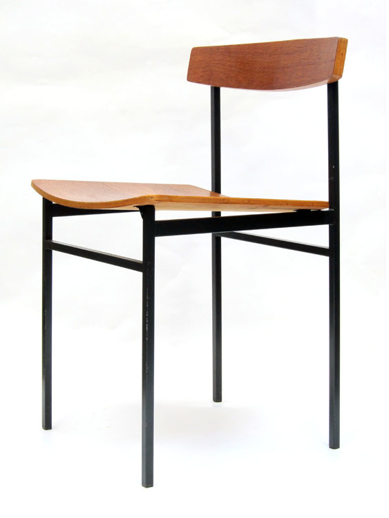 Auping carrelle fifties wood and metal chair for 50s chair design