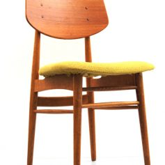 Danish fifties Farstrup uphostered wooden chair