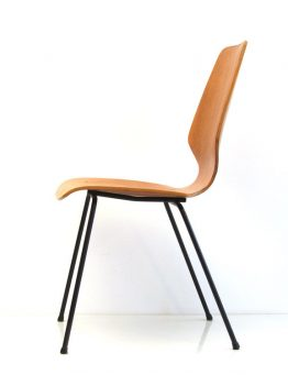 Danish oak retro plywood chair