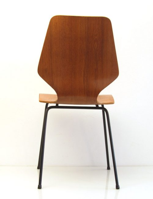 Danish oak retro plywood chair
