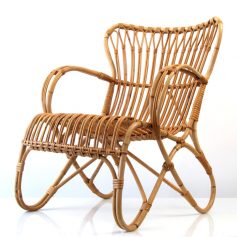 Dirk van Sliedrecht vintage rotan relax chair