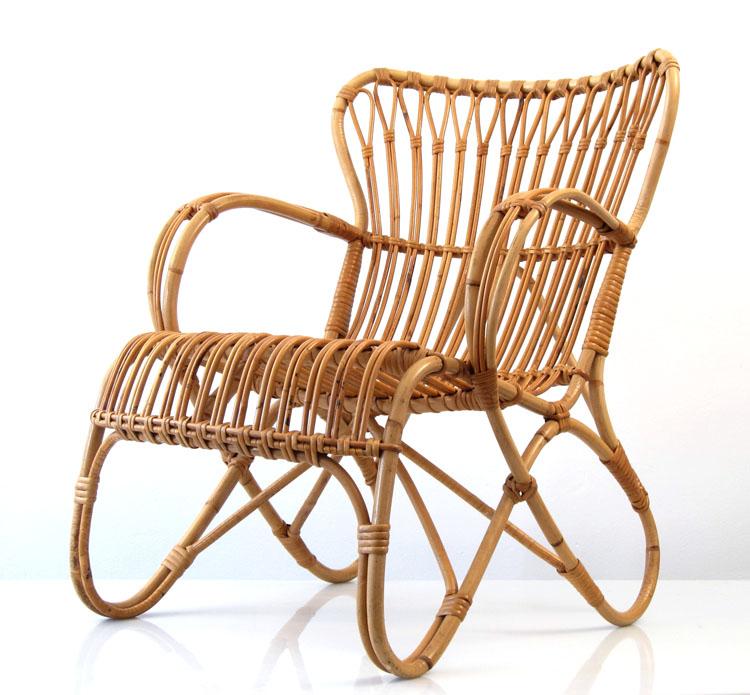 Dirk van Sliedrecht vintage rotan relax chair : Dirk van Sliedrecht vintage rotan relax chair from bomdesignfurniture.com size 750 x 695 jpeg 247kB