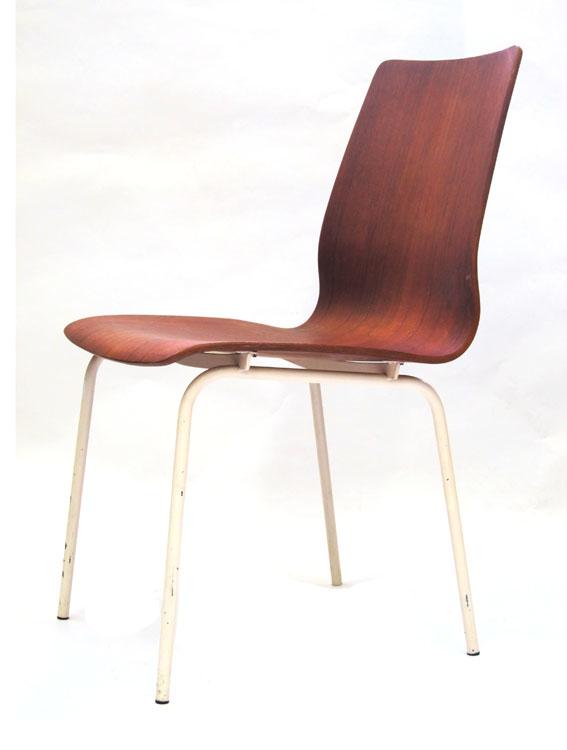 Friso Kramer Auping fifties plywood teak chair
