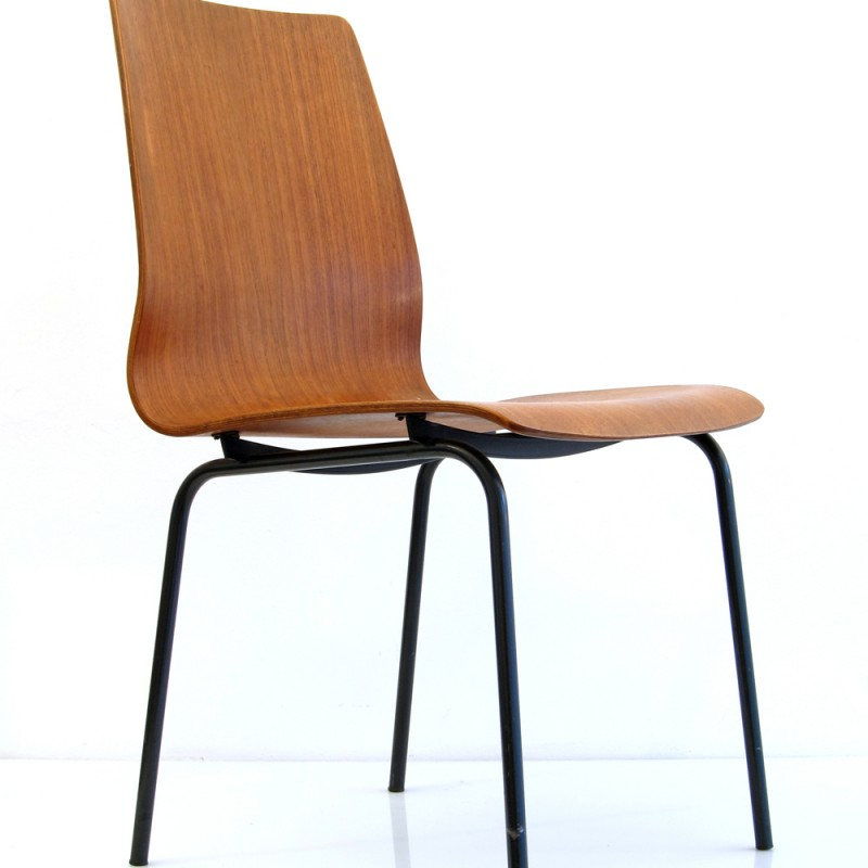 Friso Kramer Auping retro teak plywood chair