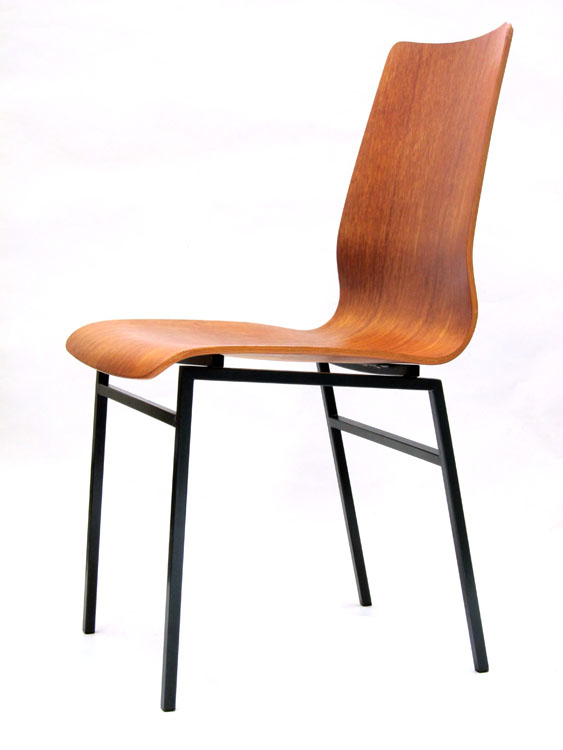 Friso Kramer Auping sixties teak plywood chair