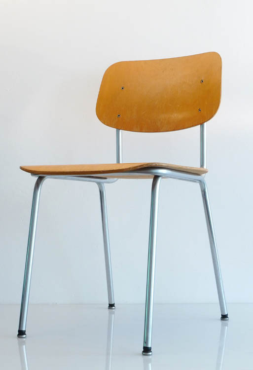 Gispen and Cordemeijer plywood sixties chairs