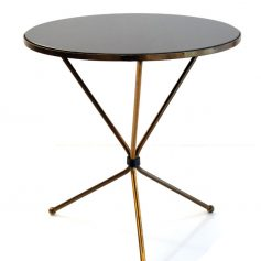 Glass and bronze sixties side table