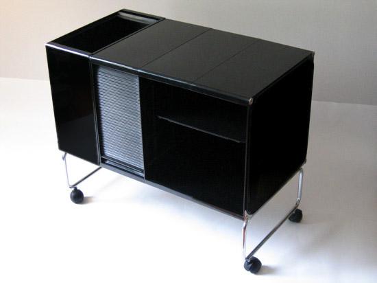 Joe Colombo square plastic system in black