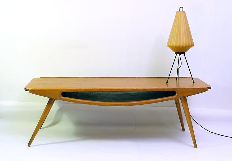 Kagan Dreyfuss style fifties salon table