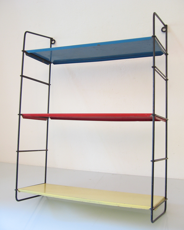 Metal sixties shelf