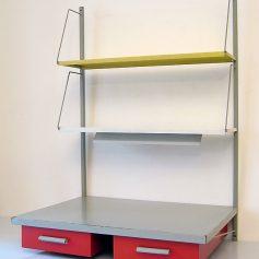 Pilastro sixties shelf unit with lamp