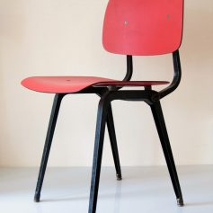 Revolt chair by Friso Kramer vintage bordeaux red