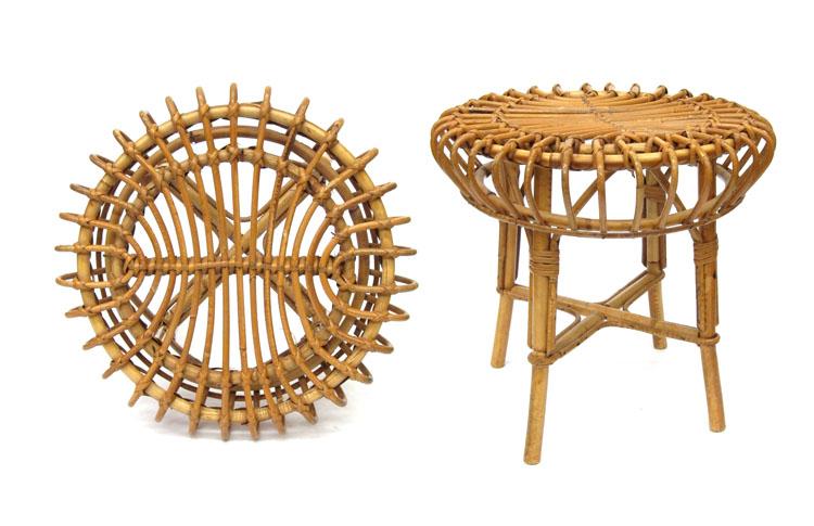 Rotan vintage side table or stool