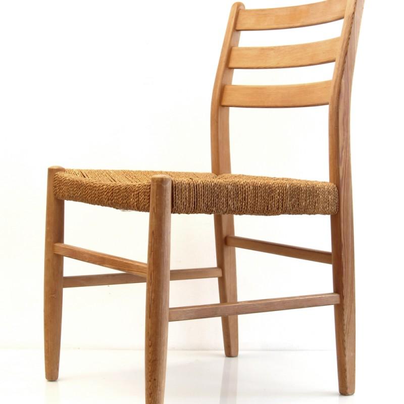 Scandinavian wooden retro chair