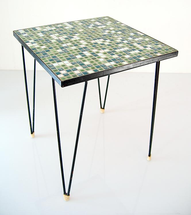 Sixties retro mosaic table