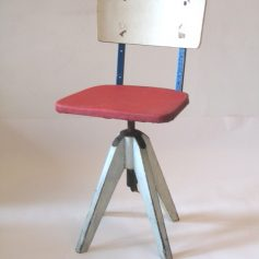 Stoll rare vintage postwar wood and metal chair