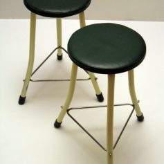 Two metal fifties Brabantia stools