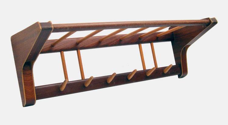 Vintage sixties plywood coat hanger