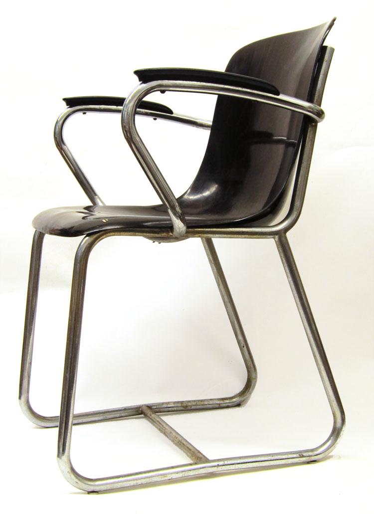 WH Gispen vintage bakelite chair
