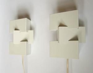 2 Anvia Sculptural Vintagee Sconce Wall Lamps Eames Braakman Friso Kramer Rietveld Mid