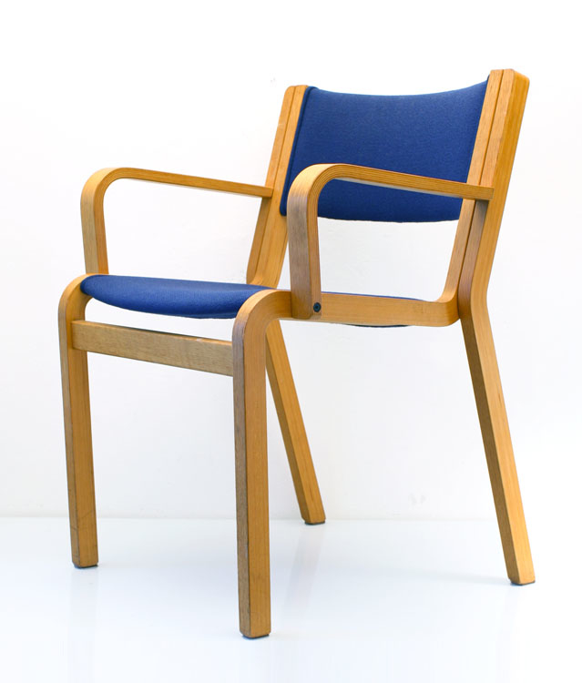 2 arne jacobsen style chairs blue upholstered 60s for 60s chair design
