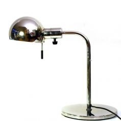 2 Metalarte vintage chrome table lamps