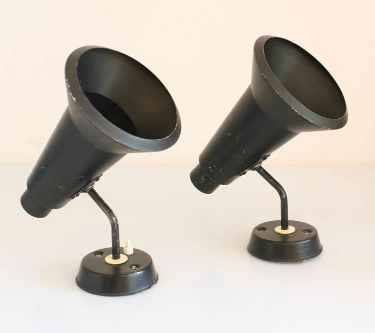 2 Philips Louis Kalff Vintage Retro Spots Lamps Eames