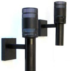 2 Philips black vintage metal wall lamps