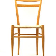 2 Ponti style wooden chairs, 50s vintage