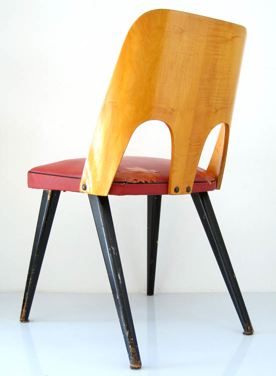 2 fifties plywood chairs, vintage retro