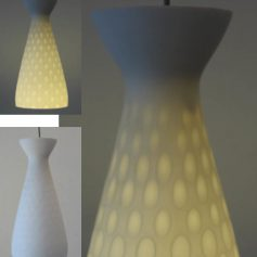 2 opal glass sixties vintage pendant lamps