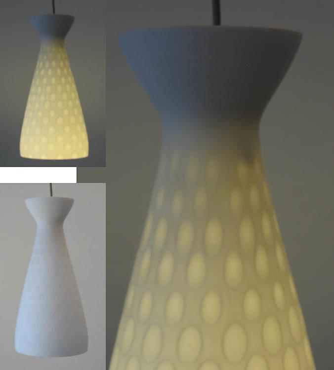 2 opal glass sixties vintage pendant lamps