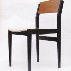2 sixties vintage retro wooden chairs