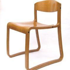 4 Swedish vinatge plywood chairs