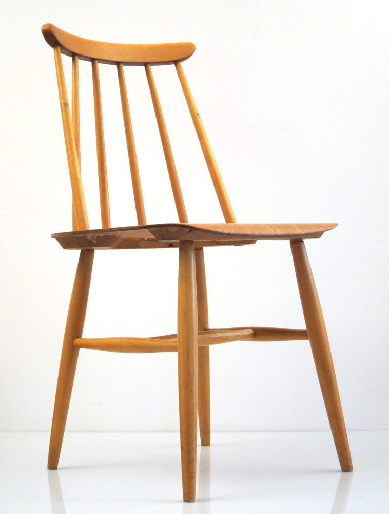 4 tapiovaara fanett vintage dining chairs for Vintage retro chairs