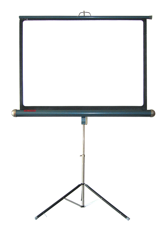 50s slide / film projection screen on tripod, vintage retro