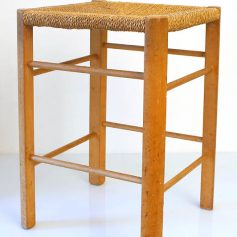 50s stool, wood, vintage retro