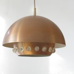 50s vintage retro copper pendant