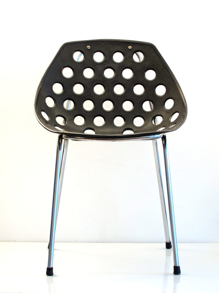 6 Pierre Guariche fifties modernistic Coquillage design chairs