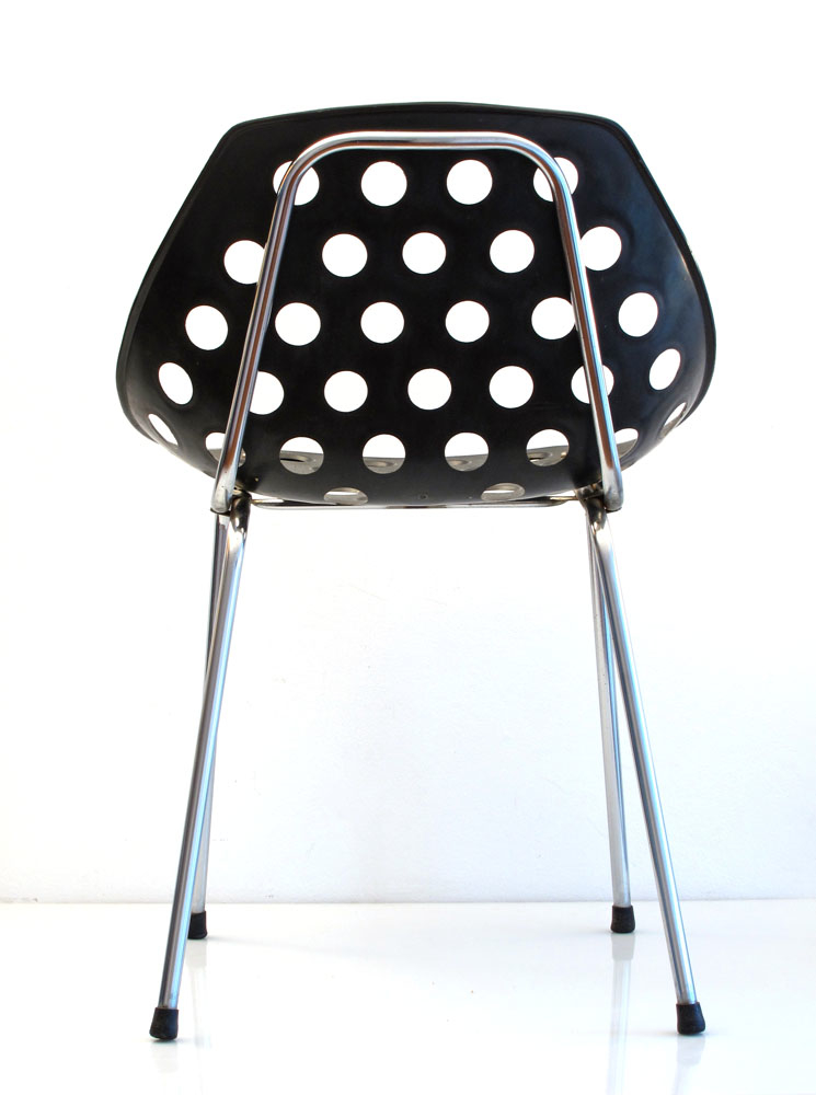 6 Pierre Guariche sixties vintage Coquillage design chairs