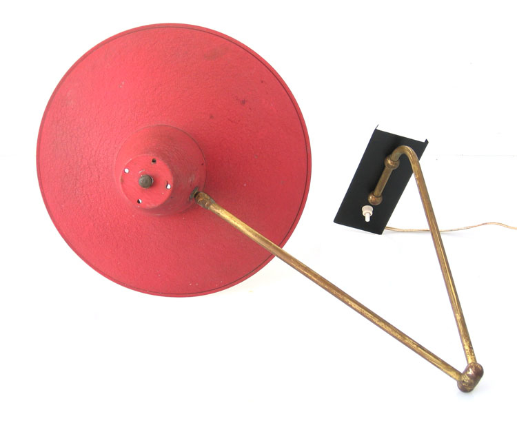 Adjustable fifties retro metal wall lamp