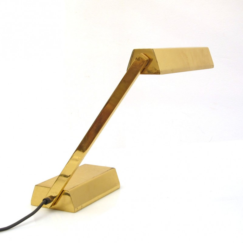 Adjustable retro vintage gold desk lamp