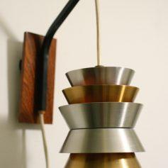 Aluminium sixties vintage wall lamp