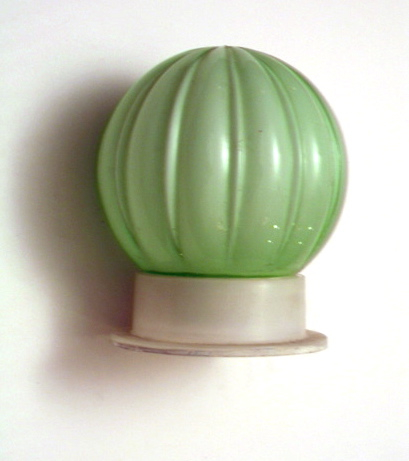 Art Deco ceiling light bulb green, 50s, vintage retro